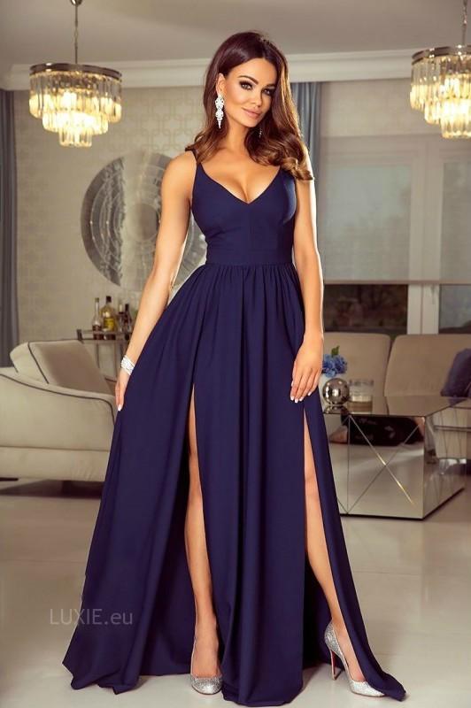 Nina dress tmavomodré - Luxusné spoločenské šaty  3ff73cd2d56