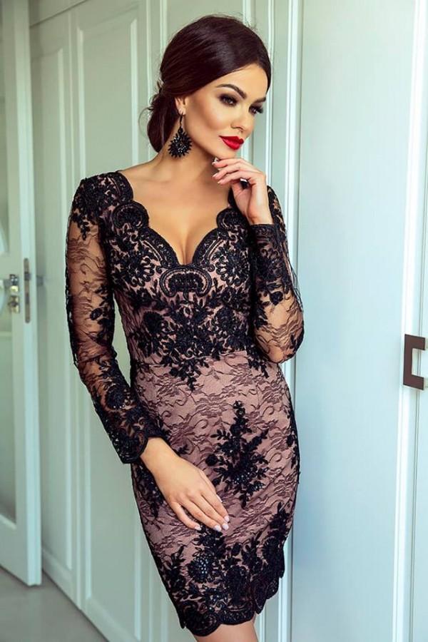Paris dress čierne - Luxusné spoločenské šaty  a6ca94f5a5
