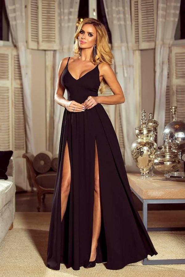 Nina dress čierne - Luxusné spoločenské šaty  b0d8fcd11c2