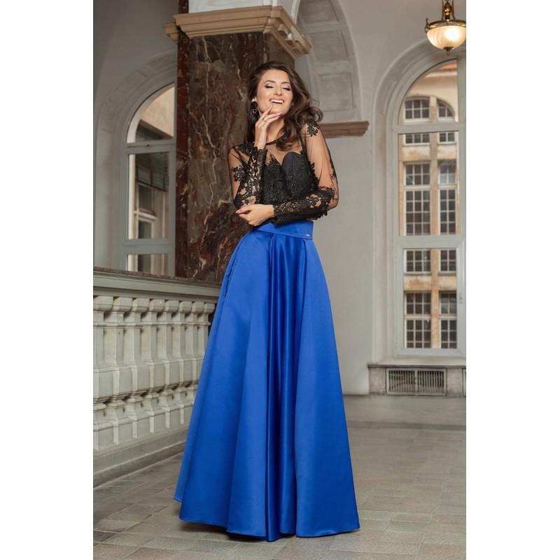 faa2d5e0efc7 Ellen modrá saténová sukňa - Elegantné sukne