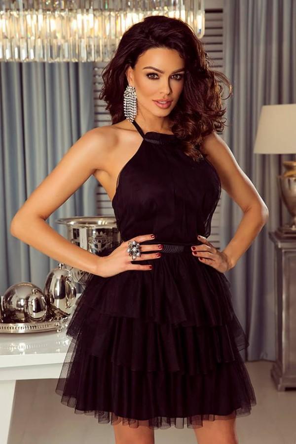 83c3c4413a4 Nadia dress čierne - Luxusné spoločenské šaty