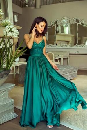 Bella dress šmaragdovo zelené ... 4fc43fc1dd7