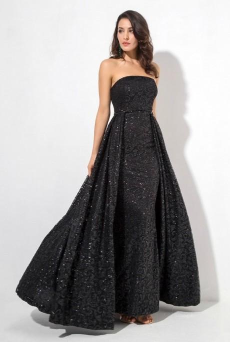 Ariana dress čierne - Luxusné spoločenské šaty  2da07d5f249