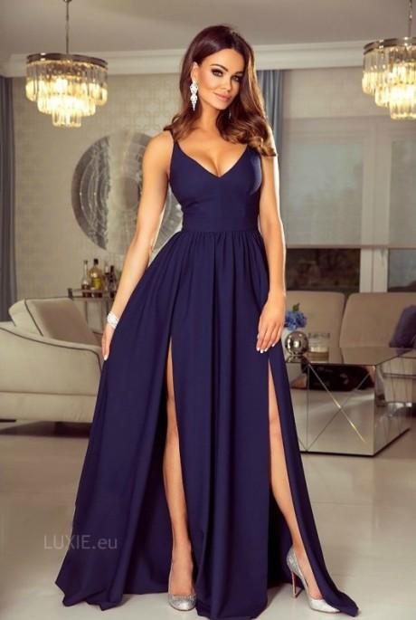 9110705083e5 Nina dress tmavomodré - Luxusné spoločenské šaty