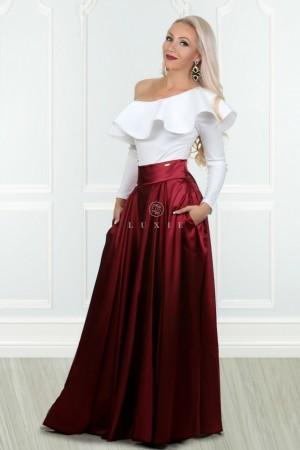 862897bded97 Camile bordová sukňa Camile bordová sukňa