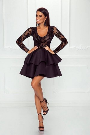 Emanuella dress čierne ... 56c4b9c7d37