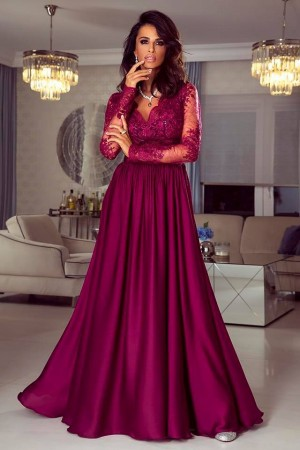 Luna dress tmavobordové ... b656a885a6f