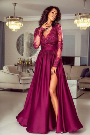 Luna dress burgundy